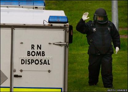 Bomb disposal team at the Royal Alexandra Hospital