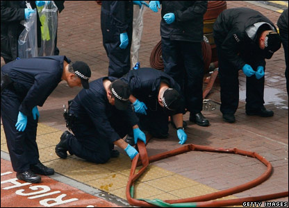 Forensic police officers