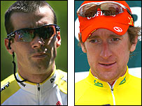David Millar (left) and Bradley Wiggins