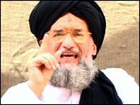Ayman al-Zawahiri in al-Qaeda video
