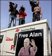 Палестинские журналисты в числе многих требовали освобождения Алана Джонстона