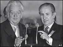 Лорд Килланин и Хуан Антонио Самаранч, 1980 год