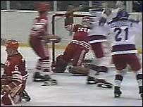 Эпизод матча СССР-США на Олимпиаде 1980 года
