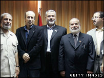 Alan Johnston with Hamas leadership