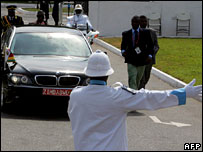 A presidential car at the AU summit in Accra