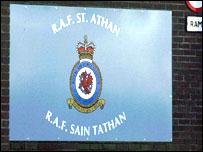 RAF St Athan sign