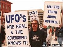UFO protest