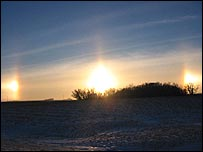 Sundogs, refracted images of the sun  (Picture: Erik Axdahl)