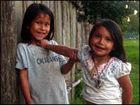 Young girls in Madidi National Park