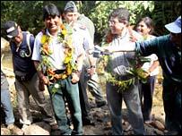 Evo Morales in Madidi