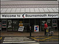 The entrance to Bournemouth Airport