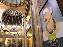 Exhibici�n por los 100 a�os de Frida Kahlo en el Museo de Bellas Artes, M�xico.