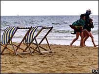 A beach in Bournemouth