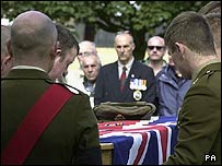 Private Lancaster's funeral