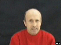 Alan Johnston in video made by his captors