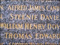 Alfred James Candy, as seen on Llangollen's war memorial