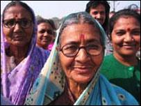Women attending the Mela