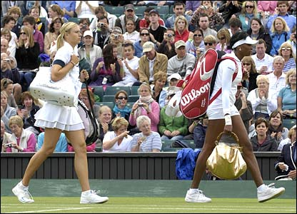 Maria Sharapova and Venus Williams