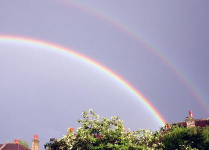 Rainbows over London