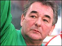 Former Derby County and Nottingham Forest manager Brian Clough