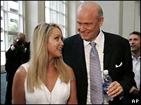 Fred Thompson with his wife Jeri