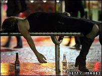 Drunken woman