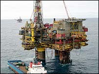 Brent Bravo oil platform in the North Sea
