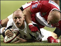 Gareth Thomas in action for Toulouse.