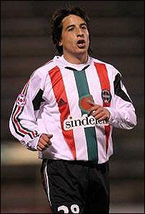 Roberto Kettlun, futbolista chileno que integr� la selecci�n palestina