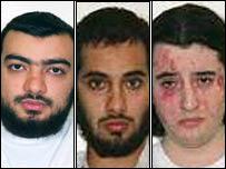 (L-R) Tariq Al-Daour, Waseem Mughal and Younes Tsouli