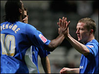 Gary McSheffrey celebrates putting Birmingham ahead