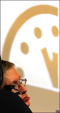 Stephen Hawking at BAS press conference (PA)