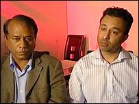 Company directors Fazal Mahmood (l) and Ghulam Rumi