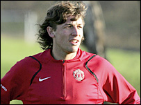 Manchester United defender Gabriel Heinze