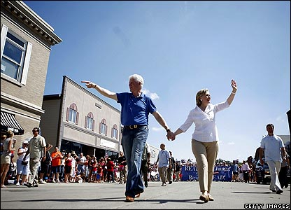 Bill and Hillary Clinton in Clear Lake