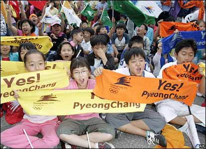 Children in Pyeongchang