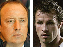 Liverpool boss Rafael Benitez and Blackburn defender Lucas Neill