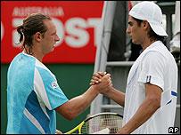 David Nalbandian y Nicol�s Lapentti.