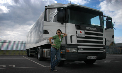 Denise and a lorry