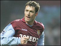 Chris Sutton in action for Aston Villa