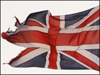 Tattered Union flag