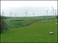 Computer generated view of Toddleburn wind farm