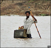 Flood victim in Gujarat