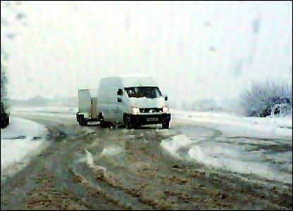 Stuck van
