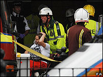 Tube passenger receives medical assistance