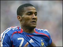 Florent Malouda in action for France