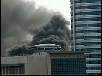 View of the fire (Picture courtesy of David Balloch)