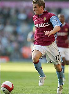 Steven Davisin action for Villa
