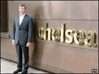 Roman Abramovich at the new training centre