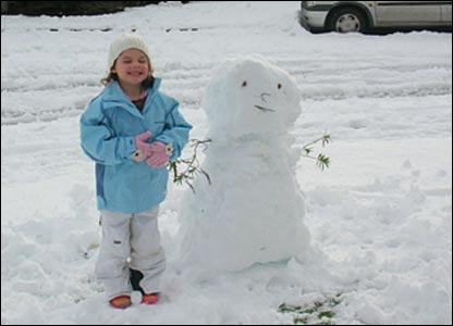Elizabeth and snowfriend